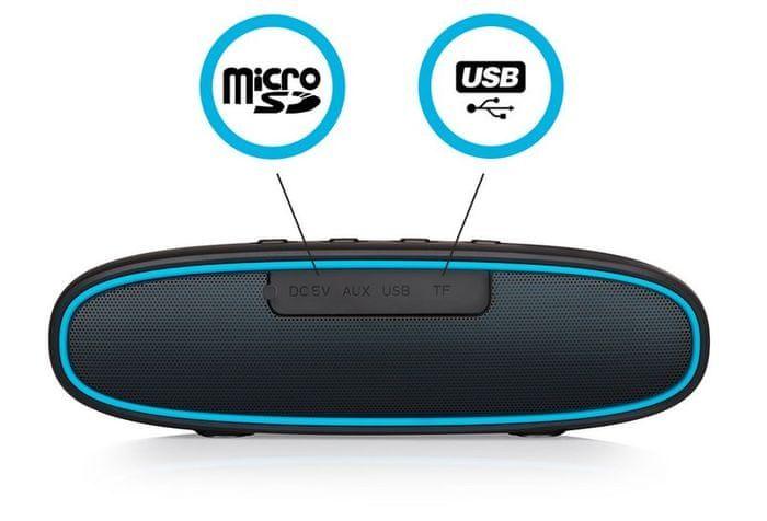 Predvajanje iz microSD in AUX
