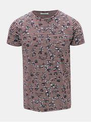 Dstrezzed krémovo-vínové pruhované tričko