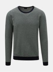 Dstrezzed zeleno-krémový vzorovaný svetr