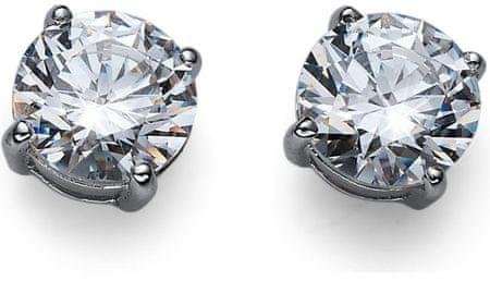 Oliver Weber Srebrni uhani s kristali Jutranja briljantnost Velika 62067 001 srebro 925/1000