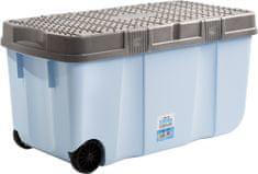 WHAM pudełko z pokrywką i kółkami 15251 100 l, niebieskie