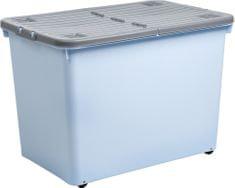WHAM pudełko z pokrywką 15431 80 l, niebieskie