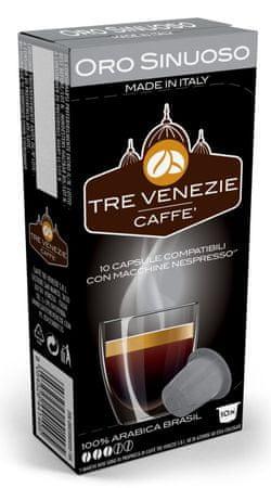 Tre Venezie kapsułki Oro Sinuoso Nespresso, 60 szt.
