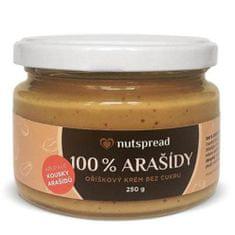 Nutspread 100% Arašídové máslo crunchy 250g