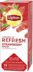 Lipton Strawberry herbata czarna aromatyzowana 6x 25 torebek