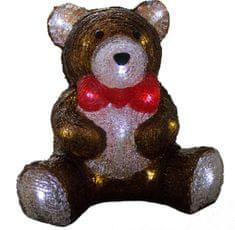Koopman świecący akrylowy niedźwiedź 28 cm, 24 LED, timer