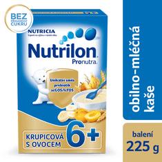 Nutrilon Pronutra obilno-mliečna kaša krupicová s ovocím 4x225 g, 6+