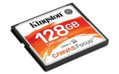Kingston pomnilniška kartica 128GB Canvas Focus, 150/130 MB/s, UDMA7, za DSLR kamere