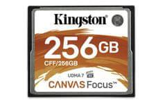 Kingston pomnilniška kartica 256GB Canvas Focus, 150/130 MB/s, UDMA7, za DSLR kamere