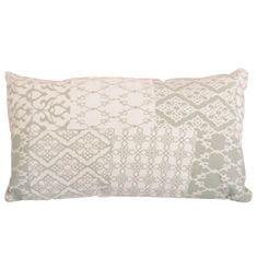 Vankúš, bavlna/vzor olivový, 55x33, NOVEL  TYP 3
