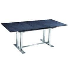 Jedálenský stôl, kameň/oceľ, BENDER