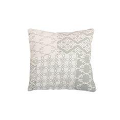 Vankúš, bavlna/vzor olivový, 30x30, NOVEL TYP 2