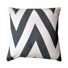 Vankúš, bavlna/vzor sivá/modrá, 45x45, NOVEL TYP 1
