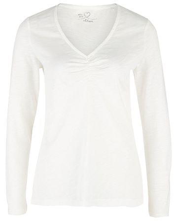 s.Oliver Damska koszulka 14.901.31.6546 .0210 Cream (rozmiar 36)