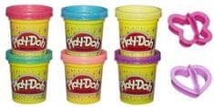 Play-Doh svetleč komplet, 6kosov