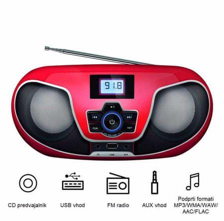 Manta radio Boombox BBX005 Nerva
