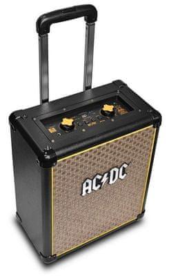 Przenośny głośnik iDance AC/DC TNT3 moc 200 W bateria Li-ion 4 godziny 8-calowy głośnik basowy logo AC/DC