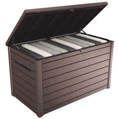 KETER kutija za vrt ONTARIO box, 870 l, smeđa