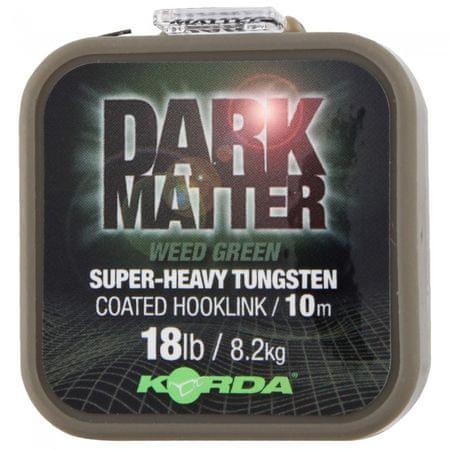 Korda Návazcová Šňůrka Dark Matter Tungsten Coated Braid Weed Green 10 m 25 lb, 11,3 kg