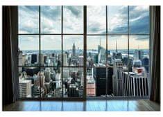 Dimex Fototapeta MS-5-0009 Manhattan z okna 375 x 250 cm