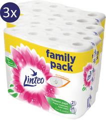 LINTEO papier toaletowy biały 3 x 24 rolki 2-warstwowy