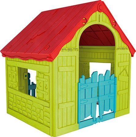 KETER otroška vrtna hišica FOLDABLE PLAYHOUSE, zelena