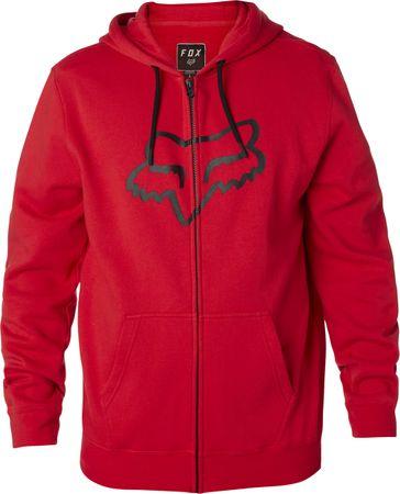 FOX férfi pulóver Legacy Foxhead Zip Fleece L piros