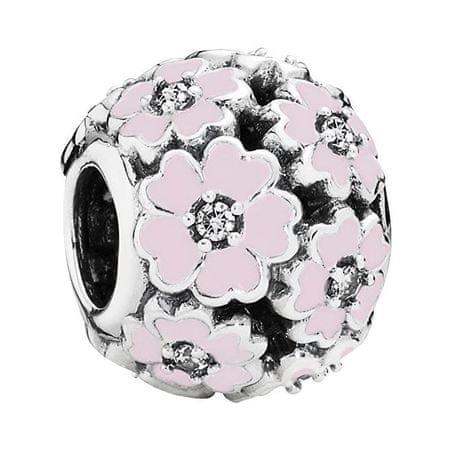 Pandora Ezüst gyöngy rózsaszín virágokkal 791488EN68 ezüst 925/1000