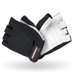 Mad Max Fitness rukavice Basic 250 - bílé/černé