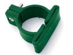 Příchytka PVC pro panely LIGHT - objímka průměr 48 mm, barva zelená