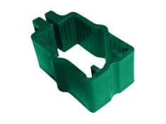 Objímka na panely pro sloupek 60×40, PVC, zelená