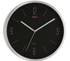 Brodnik kovinska stenska ura (51110411), srebrna