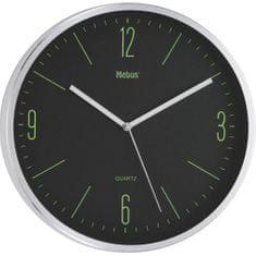 Brodnik kovinska stenska ura (51110412), srebrna