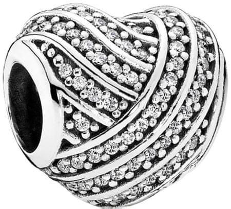 Pandora Trblietavé srdce 791885CZ striebro 925/1000