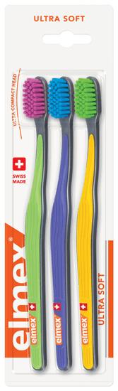 Elmex Zubní kartáček Ultra Soft 3-pack
