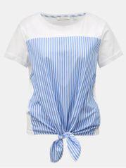 Rich & Royal modro-bílé pruhované tričko s uzlem