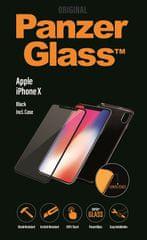 PanzerGlass steklo in ovitek za iPhone X, črno