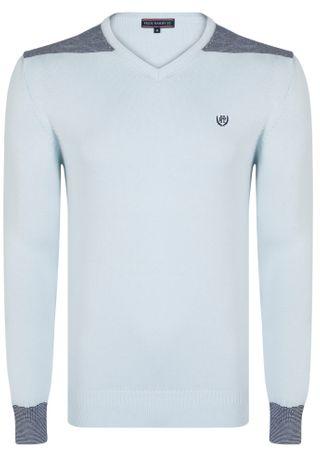 FELIX HARDY moški pulover, M, svetlo moder