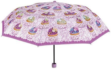 Blooming Brollies Női mechanikus összecsukható esernyő Cupcake Tematikus 25915A