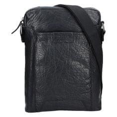 Lagen Usnjena križna torba 24425 črna