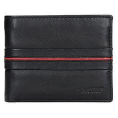 Lagen Moška usnjena denarnica 3905 Črna / Rdeča