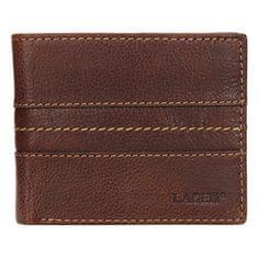 Lagen Męska černá skórzany portfel 3984 Tan
