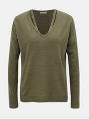 Jacqueline de Yong khaki svetr s průstřihy More