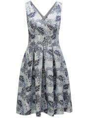 Dorothy Perkins světle modré květované šaty s překládaným výstřihem