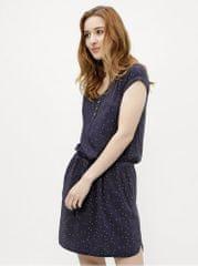 Ragwear tmavě modré dámské puntíkované šaty Danila