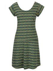 Tranquillo khaki vzorované šaty s mašlí na zádech Asimina