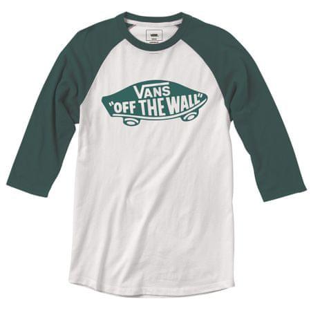 Vans chlapecké tričko Raglan S bílá/zelená