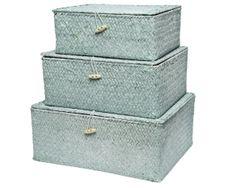 Kaemingk Set 3 ks úložných boxov, sv. mätová