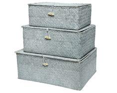 Kaemingk Set 3 ks úložných boxů, sv. šedá