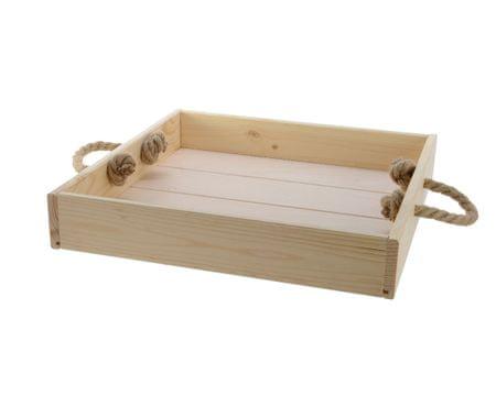 Kaemingk Taca z rączką z liny, 38 x 38 x 6,6 cm